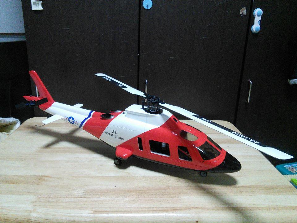 ヘリ列伝 その21(Agusta109 中身:T-REX450 DFC)